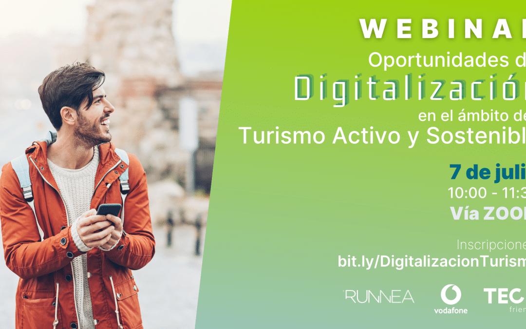 Webinar sobre oportunidades de digitalización en el ámbito del Turismo Activo y Sostenible